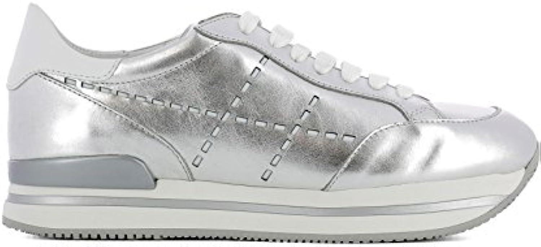 Hogan Mujer HXW2220K080I810906 Plata Cuero Zapatillas  Venta de calzado deportivo de moda en línea