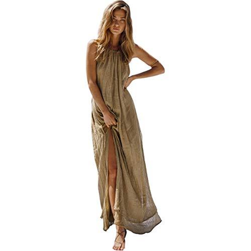 JDSXXZ Fashion Sexy Kleid Bohemian Open Back Partykleid, S, Grün - Open-back-pullover-kleid