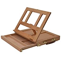 Artina Table Easel Colmar Single or with Painting Set - Box Easel Wood with Watercolours Acrylic or Oil Paints