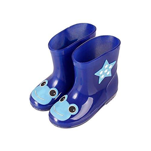 Haodasi Unisex Kinder Rainboots Regen Stiefel Wasserdicht Animal Prints Jungen Mädchen Gummi Rain Shoes Boots Regen Schuhe Wasser Schuhe Blue