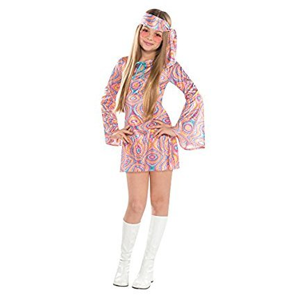L Teen Disco Diva Costume for 70s Fancy Dress Outfit by Amscan