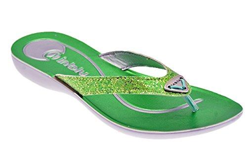 In Blu Ma 02 Tongs Neuf Chaussures Femme Vert