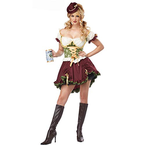 ZSJ~SW Costplay European Beauty Halloween Kleidung Retro Palace Prinzessin Kleid Sexy Oktoberfest Maid Kleidung (Color : 7089, Size : S)