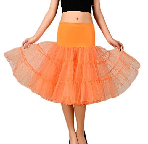 Damen Retro Hochzeit Petticoat Reifrock Unterrock Rockabilly Kleid Puff Rock 6 #