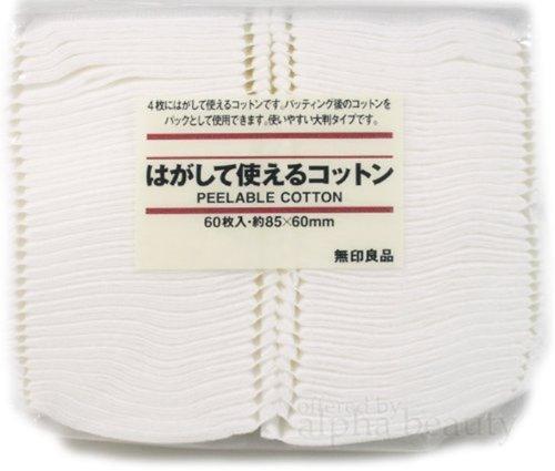 Muji Japan 4 Layers Facial Cotton Pad (60 sheets) by Moma Muji