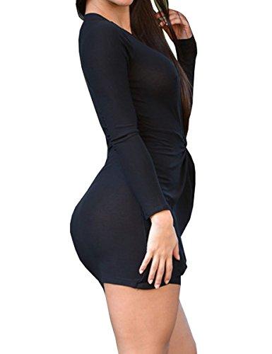 E-Girl SY22441 femme sexy robe mini Noir