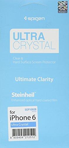 Spigen Schutzfolie für iPhone 6 [Ultra Crystal] mit Steinheil LCD Film - kristallklare Schutz Folie, Screen Protector für iPhone 6 [SGP10928]