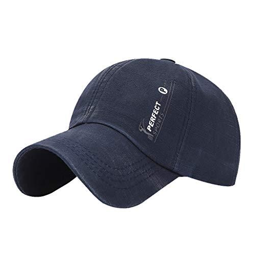 Finebo-Sommer-beiläufige Baseballmütze-Art- und Weisehüte für auserlesenen Golf im Freien Sun-Hut für Männer (Marine) -