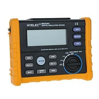 Andoer HYELEC MS5203 résistance d'isolement de test multimètre FLUKE F1520 vs