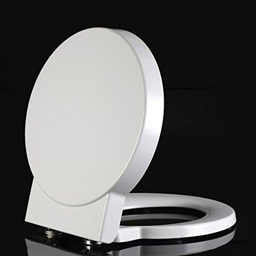 Arayacy sedile del water, sedile del water rotondo, drop mute, sedile del water spesso bianco