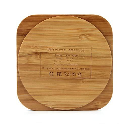 Delicacydex Cojín de Carga de bambú Qi Cargador de Madera inalámbrico para Samsung Galaxy S6 / S6 Edge Plus S7 / S7 Edge Nota 5 / Nota 7 Elephone P9000-0