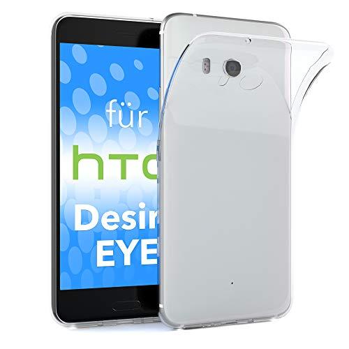 EAZY CASE HTC Desire Eye Schutzhülle Silikon, Ultra dünn, Slimcover, Handyhülle, Silikonhülle, Backcover, Durchsichtig, Klar Transparent