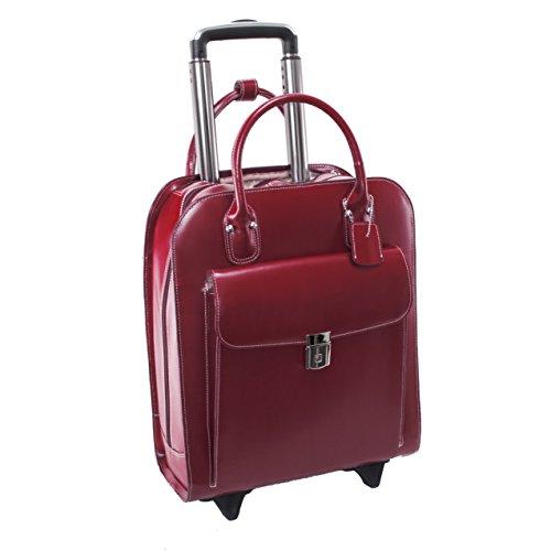 McKleinUSA 97696Leder Vertikaltasche Rädern Damen-Aktentasche für 15,4Laptop–Rot (Leder-wheeled Laptop-aktentasche)