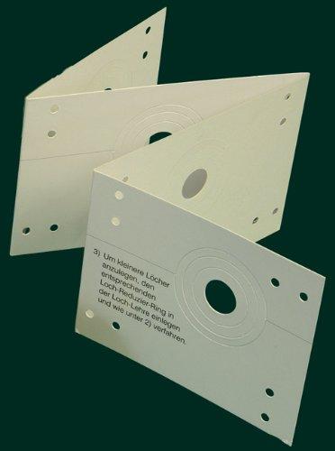 Lochlehre (Zubehör zur Anfertigung von Stoffösen-Dekorationen), weiß, Lochabstand 12 cm / Aufmachung 1 Stück