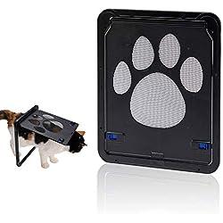 """Hyindoor Puerta para Perros y Gatos Puerta Mosquitera para Mascotas Gatera de Gatos con Cerradura Automática Puerta Magnética con Malla para Perros Pequeños (9.4""""x 11.4"""")"""