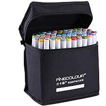 Rotuladores permanentes multicolor Oily Alcohol Art Twin Tip Art Markers Sketch Marker Pen Set+Pencil Bag
