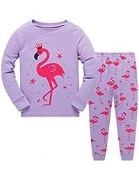 Pijamas para niñas Ropa de Dormir para niños 100% Algodón Variedad de Estampados de Animales