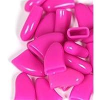 Hot Pink 20pcs suave mascota gato uñas Caps Pinza para pantalla Cap + pegamento adhesivo Talla XS