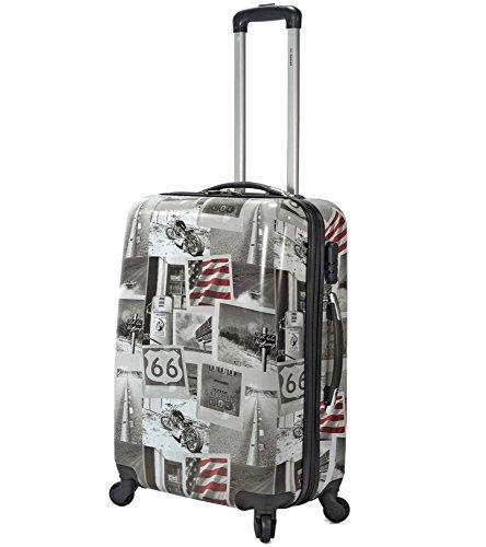 4-Rollen-Koffer-66-cm-Trolley-Hartschale-USA-Harley-Motive