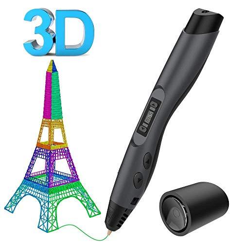 Plumas para impresión 3D, SUNLU 3D Pluma Inteligente Pen Bolígrafo de Impresión Estereoscópica con Soporte de Seguridad para Crear y Modelar Figuras 3D Compatible
