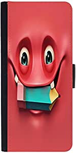 Snoogg Nerdy Ghost 2670 Graphic Snap On Hard Back Leather + Pc Flip Cover Sam...
