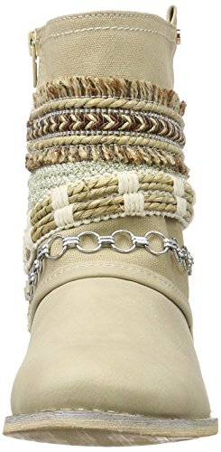 Bullboxer Ankle Boots, Bottes Motardes femme Beige (cream)