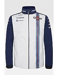 Williams Martini Racing Team Replica–Chaqueta Softshell, fórmula 1, F1, Massa, Bottas, Azul Azul azul Talla:large