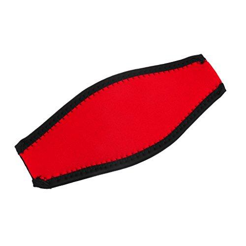 MagiDeal Neopren Maskenband - Tauchen Schnorchel Maske Gepolstert Neopren Abdeckung - Rot