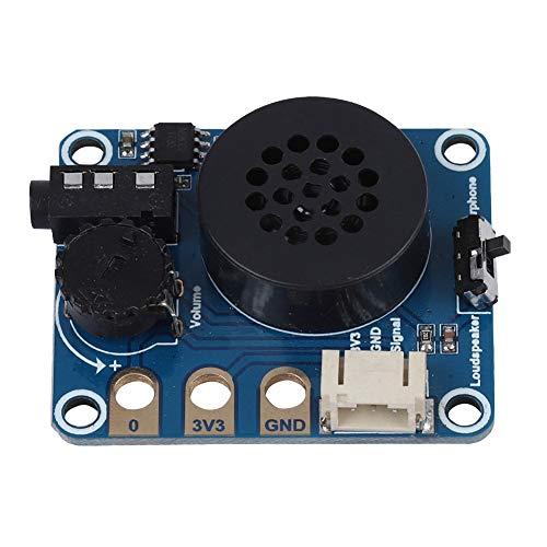 Bewinner Scheda di espansione per Altoparlanti Scheda di espansione per Altoparlanti per Micro: Bit NS8002 Chip Compatibile per Arduino Supporto per la Regolazione del Volume della Cuffia