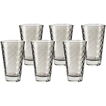 Leonardo Set//12 Becher Optic 6 LD 6 WH Basalto//grau Longdrinkbecher Gläser