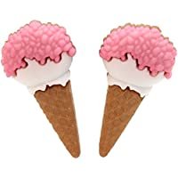 bluebubble gelato Parlor Rosa cono Stud orecchini con confezione regalo