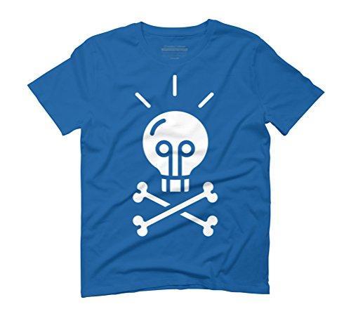 Bad idea Men's Graphic T-Shirt - Design By Humans Royal Blue