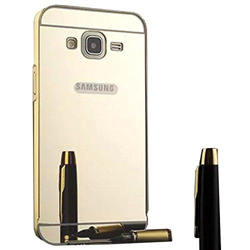Funda Espejo Aluminio Metal Carcasa para Samsung Galaxy Grand Neo Plus / Grand Neo / Grand Lite GT-i9060i i9060 i9062 i9082 (5 pollici) Color Oro