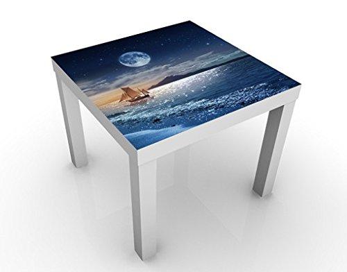 Apalis 46394–277042 Design Moon Night Sea Table, 55 x 55 x 45 cm, Bunt, 45x55