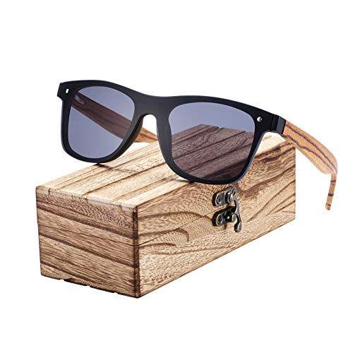 ZMHX Sonnenbrillen Zebra Holz Sonnenbrille Herren Schutz Sonnenbrille Holz Damen Brille Photochromic