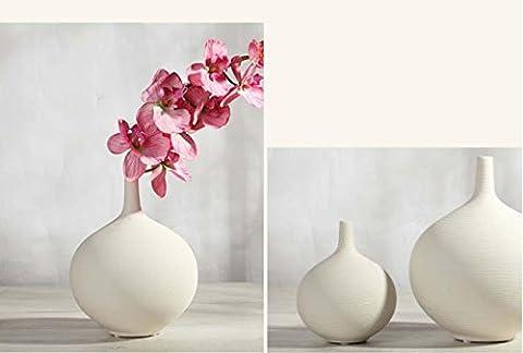 CHINA STYLE Weiße keramische Vase Wohnaccessoires Europäische Stil einfache Stil Handwerk Dekoration , hp013 (max)