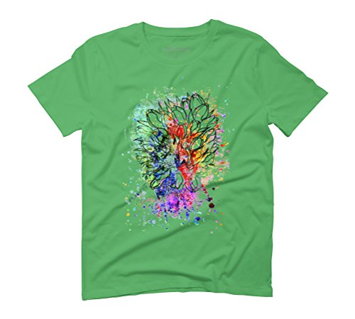 Grunge colorful tulips Men's Graphic T-Shirt - Design By Humans Green