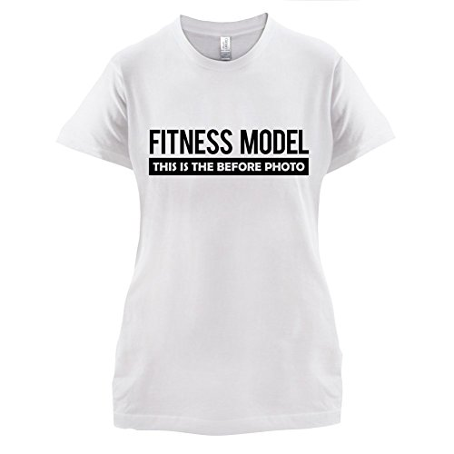 Fitness Model Before Photo - Damen T-Shirt - 14 Farben Weiß