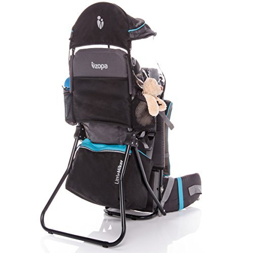 ZOPA Kindertrage Little Hiker - Höhenverstellbarer Sitz, für Kinder von 10 Monaten bis 18 kg (Atol Blue)