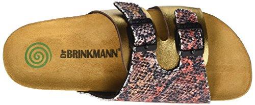 Dr. Brinkmann Damen 700915 Pantoletten Braun (kupfer/multi)