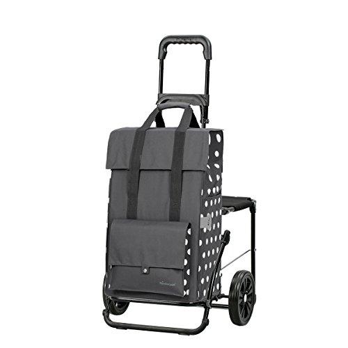 Andersen Shopper Komfort mit Sitz und 49 Liter Tasche Gerry grau