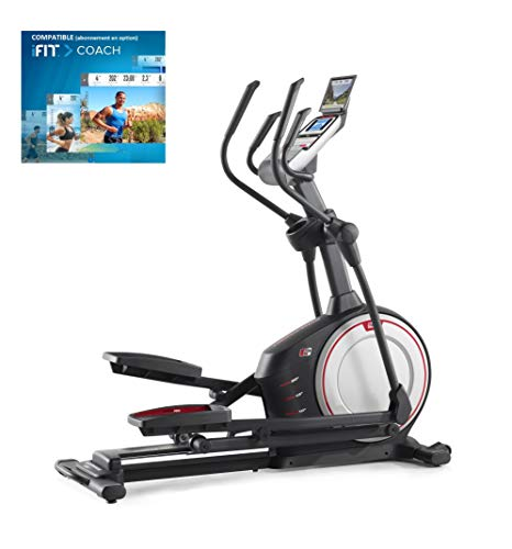 Proform Endurance 520 E Elliptical Bike, Front Wheel, Compatible with Bluetooth App iFit Cardio, Tilt Ramp 0-20°, 20 Programs, 20 Resistance Levels, Sports Use, Fitness, Well-Being