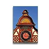 CALVENDO Lienzo Premium de 30 cm x 45 cm de Alto, Reloj en la Antigua casa del ratón, Imagen sobre...