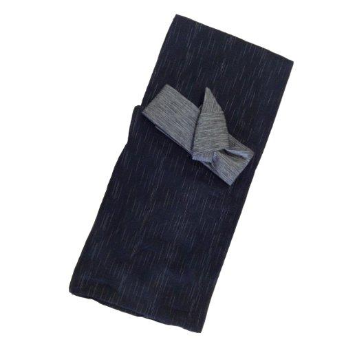 Edoten Men's Kimono Japan Shijira Weaving Yukata 703 Black L - 8