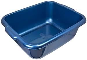 ProdBuy Limited Bassine rectangulaire en plastique multi-usages avec poignées Bleu 38 cm