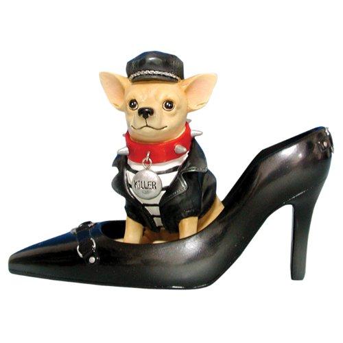 Nero in Pelle Pompa razza Chihuahua cane