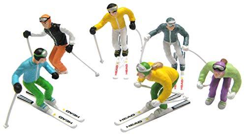 Jaegerndorfer Jaegerndorferjc54400Figurines Debout avec tête de Ski et bâtons (Lot de 6)