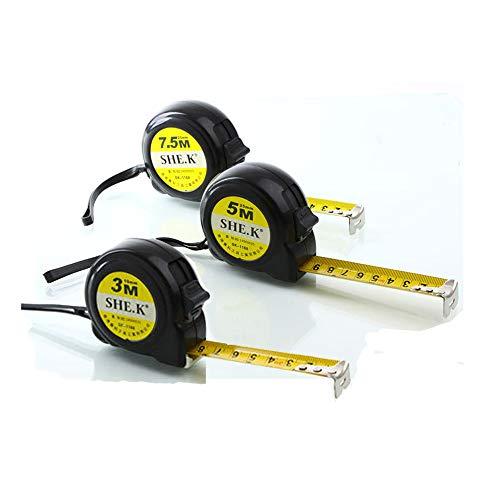 nuzamas Set von 3Maßband Maßnahmen 25Ft (7,5m), 16ft (5m), 10ft (3M) Retractable Heavy Duty, metrisch, Zoll und Imperial Messung-Für Konstruktion, Auftragnehmer und diy-yellow