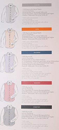 Michaelax-Fashion-Trade -  Camicia classiche  - Basic - Classico  - Maniche lunghe  - Uomo Dunkelblau(19)