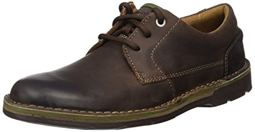 Clarks Herren Edgewick Plain Derby, Braun (Dark Brown Lea), 43 EU